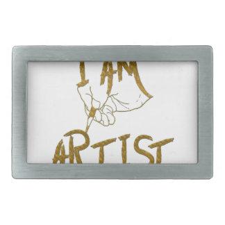 I am artist rectangular belt buckle