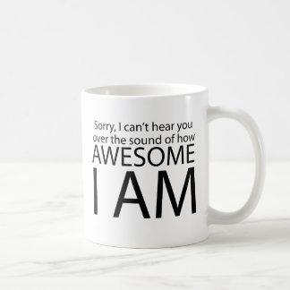 I am awesome classic white coffee mug