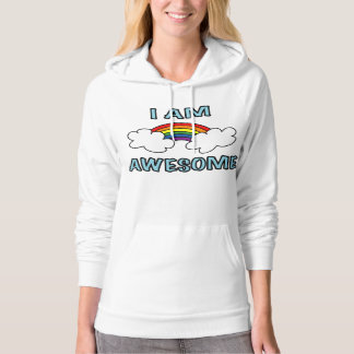 """I Am Awesome"" Rainbow Hoodie"