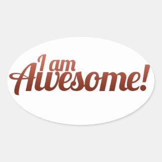 I am Awesome Oval Sticker