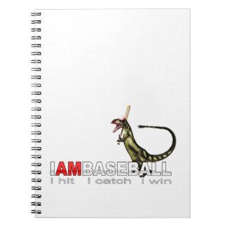 I am Baseball Dinosaur Notebook