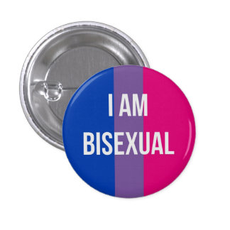 I am bisexual button