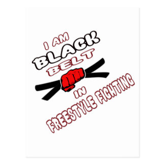I am Black belt in Freestyle Fighting. Postcard