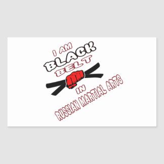 I am Black belt in Russian Martial Arts Rectangle Stickers