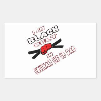 I am Black belt in Vovinam vie vo dao. Rectangular Sticker