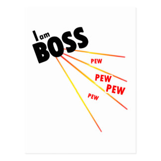 I am boss post cards