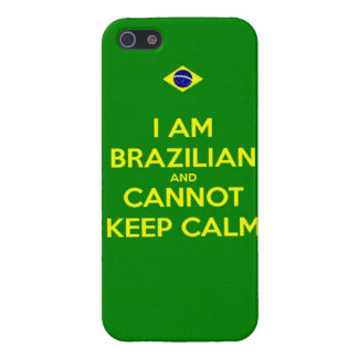 i am brazilian and i cannot keep calm iPhone 5/5S case