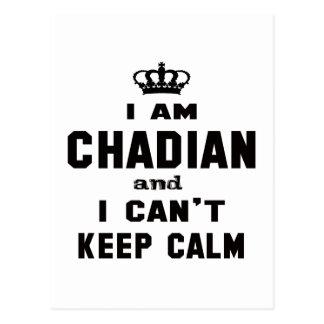 I am Chadian and i can't keep calm Postcard