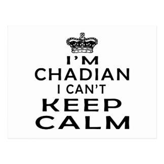 I am Chadian I can't keep calm Postcard