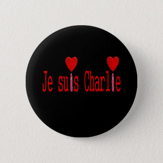I am charlie 6 cm round badge