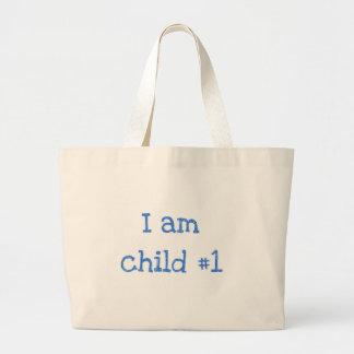 I am child #1 jumbo tote bag