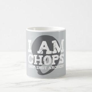 I Am Chops logo mug