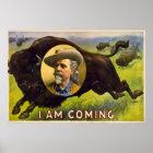 I Am Coming - Buffalo Bill Cody - Vintage Advert Poster