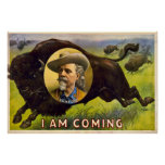 I Am Coming - Buffalo Bill Cody - Vintage Advert Posters