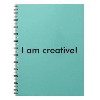 I am creative!  Notebook. Spiral Notebook