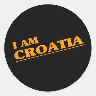 I am Croatia Classic Round Sticker