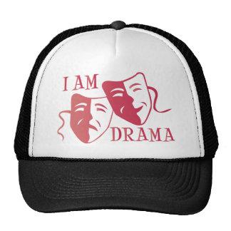 I am drama hot pink gradient cap