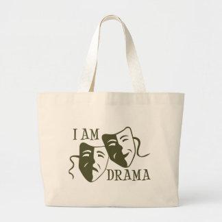 I am drama od green large tote bag