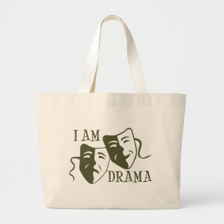 I am drama od green jumbo tote bag