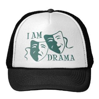 I am drama teal gradient cap