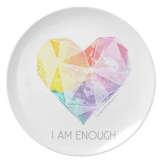 I Am Enough - Dining Plate