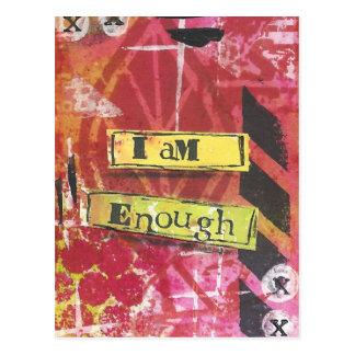 """""""I Am Enough"""" Inspirational Mantra Postcards"""