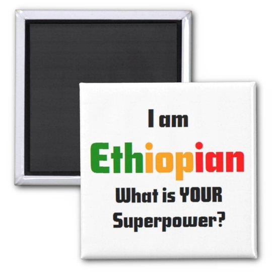 i am ethiopian square magnet