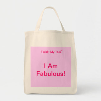 I Am Fabulous organic grocery tote Grocery Tote Bag