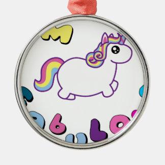 i am fabulous unicorn christmas ornament