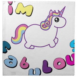 i am fabulous unicorn napkin
