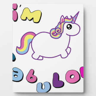 i am fabulous unicorn plaque