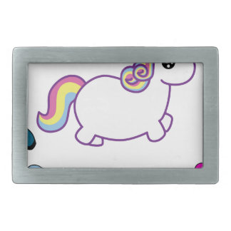 i am fabulous unicorn rectangular belt buckle