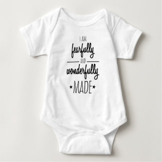 I am fearfully and wonderfully made baby bodysuit