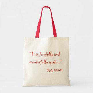 """I am fearfully and wonderfully made"" Bag"
