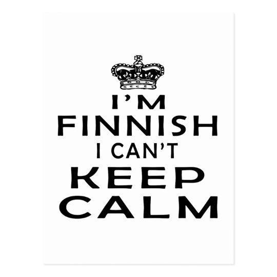 I am Finnish I can't keep calm Postcard