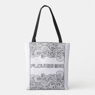 I AM Flourishing - Color your own Tote bag