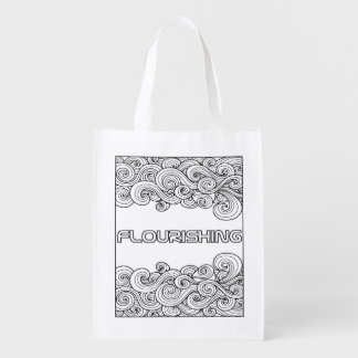 I AM Flourishing- Colour your own reusable bag