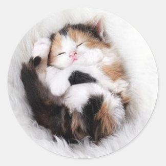 I am fofo round sticker