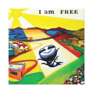 'I am free',  art Canvas Print