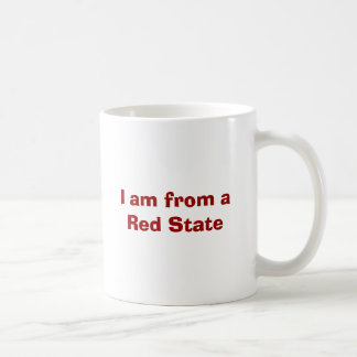 I am from a Red State Basic White Mug