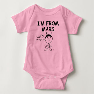 I Am From Mars Baby Bodysuit