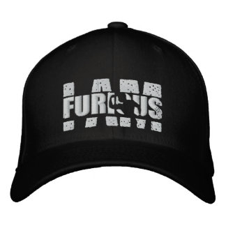 I AM FURIOUS White Logo Wool Stretch Cap