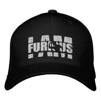 I AM FURIOUS White Logo Wool Stretch Cap Embroidered Baseball Cap