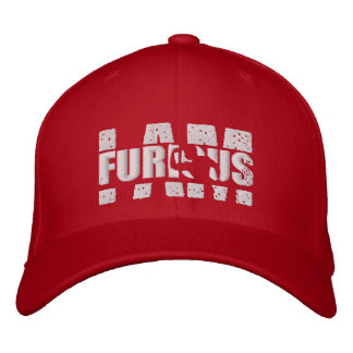 I AM FURIOUS White Logo Wool Stretch Red Cap Embroidered Baseball Caps