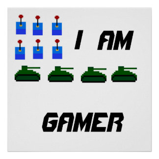 i am gamer print