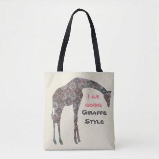 I Am Going Giraffe Style Tote Bag