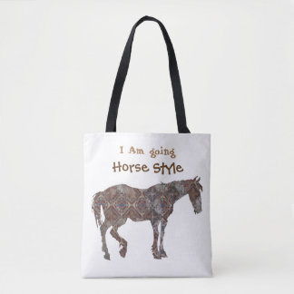 I Am Going Horse Style Tote Bag