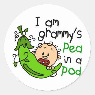 I am Grammy s Pea In A Pod Round Sticker