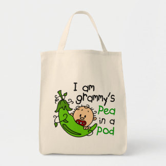 I am Grammy's Pea In A Pod Grocery Tote Bag