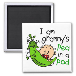 I am Grammy's Pea In A Pod Square Magnet